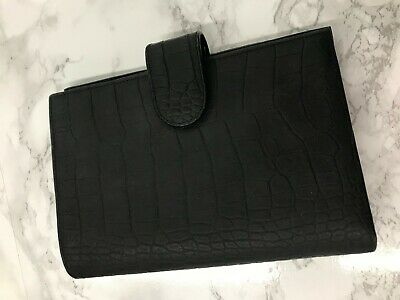 Gillio Medium Compagna Personal rings Matte Black Croco. With dust bag and box.