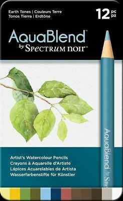 Spectrum Noir - AquaBlend Arts & Crafts Pencil Set - Earth Tones (12pk) - NEW