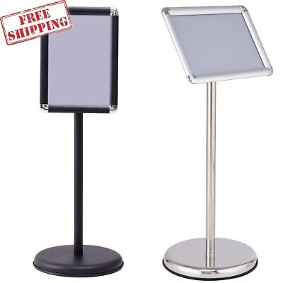 Adjustable Pedestal Poster Graphic Menu Bulletin Display Stand Aluminum Frame