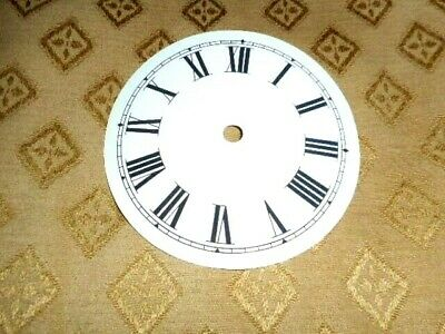 "Round Paper (Card) Clock Dial - 3"" M/T - Roman - WHITE GLOSS- Clock Parts/Spares"