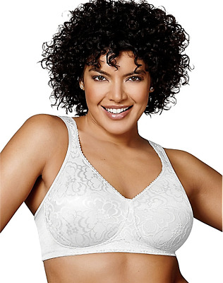 New Bra Playtex 18-Hour Ultimate-Lift-Support WireFree white 4745 MSRP-$36. 38DD