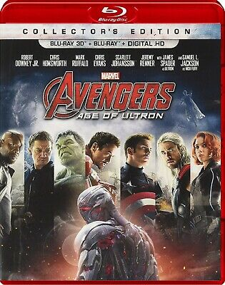 Avengers: Age of Ultron (Blu-ray Disc, 2015, 2-Disc Set; 3D/2D) *With Slipcover*