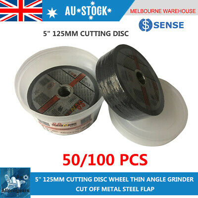 "50x 5"" 125MM CUTTING DISC WHEEL THIN ANGLE GRINDER CUT OFF METAL STEEL FLAP"
