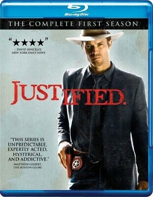 Justified: The Complete First Season One (Blu-ray Disc, 2011, 3-Disc Set) *NEW*