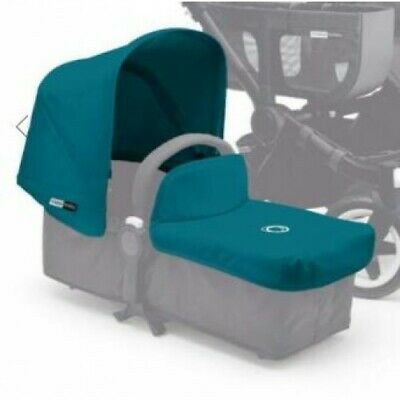 Bugaboo Donkey Tailored Fabric Set with Extendable Sun Canopy Petrol blue
