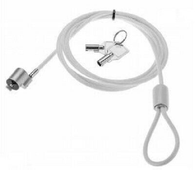 RS Pro LAPTOP SECURITY LOCK 1.8m White PVC Covered High-Tensile Steel Cable