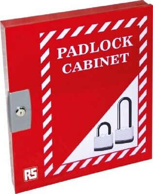 RS Pro PADLOCK CABINET 460x390x55mm 42-Padlocks, Pre-Punched Wall-Mounted