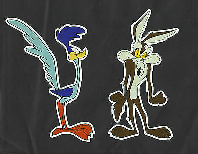 """5/""""x 3/"""" Wile E.Coyote with Fork Roadrunner bumper sticker wall decor vinyl decal"""
