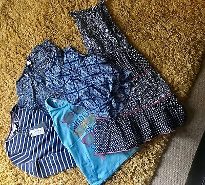 Girls FatFace Clothing Bundle New And VGC Dress, Top & T Shirt Age 8-9 Years!