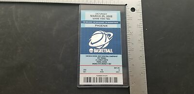 NCAA Division 1 Mens Basketball Championship West Regional 3-29-2008 Full Ticket