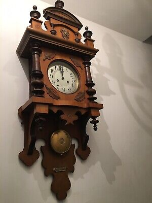 Antique German Junghans A13 Wall Clock Early 20th Century Movement Working Order