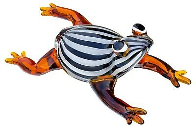 Glass Humbug Frog Ornament