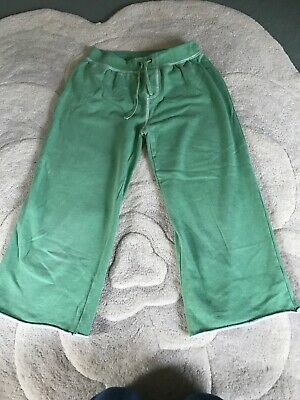 Mini Boden Girls 13-14 Green cropped tracksuit bottoms