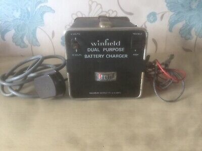 WINFIELD DUAL PURPOSE BATTERY CHARGER 6/12 Volts Untested Spares Prop Escort Vw