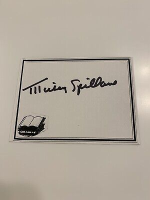 Mickey Spillane, Author Signed Bookplate