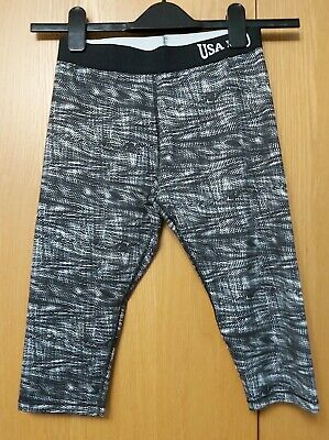 Girls USA PRO Gym Leggings Stretchy Trousers Size 13 Years
