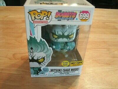 Funko Pop #699 Mitsuki Sage Mode Naruto Boruto Glow in Dark Hot Topic Exclusive