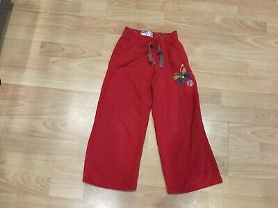 girls next red track suit bottoms age 6 years 116cm