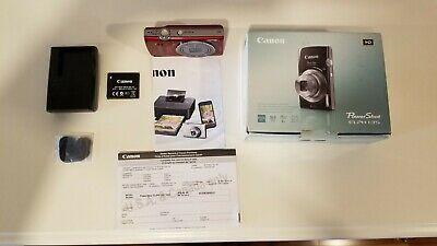 Canon PowerShot ELPH 135 IS 16MP 8X Optical Zoom Digital Camera - Red