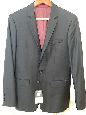 topman black skinny suit jacket size 38R new with tag