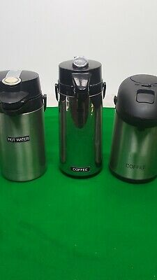 Set of 3 Mixed Brands Ella Genware Coffee Dispensers Hot Drink / Tea / Water