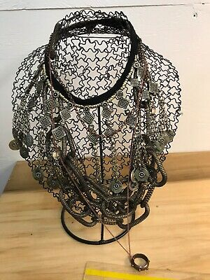 """Two metal  necklace  displays 11"""" tall -  Making Display & Packaging Supplies"""