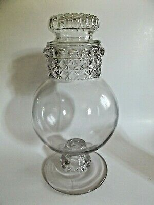 Antique Dakota Glass Apothecary Jar