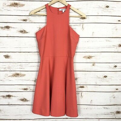 Elizabeth And James Women's Size 4 Coral Sleeveless Fit & Flare Cocktail Dress