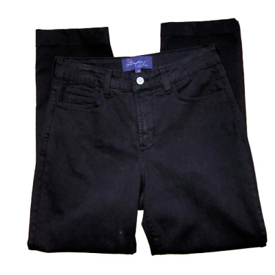 NYDJ Not Your Daughters Jeans Womens Size 10 Black Lift Tuck Chino Casual Pants