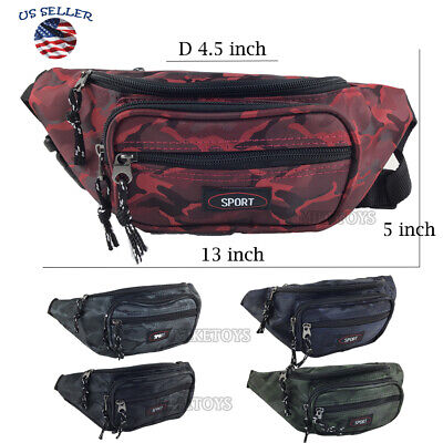 Fanny Pack Men Women Waist Belt Bag Purse Hip Pouch Travel Sport Bum (357)