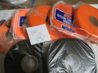 7 x rolls of Nylon Knitting Ribbon for coat hangers. All are new & old stock . P