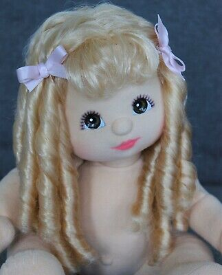 My Child Doll Blonde 88 MP Mid Part Ringlet Brown Eyes ~
