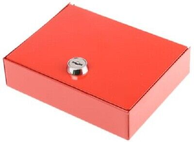 Securikey EMERGENCY KEY CABINET 153x123x40mm Wall Mounted, Solid Front RED