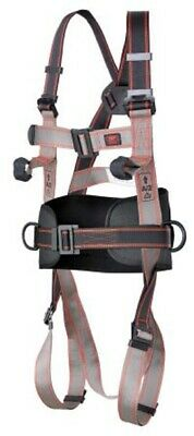 JSP FRONT, REAR, SIDES ATTACHMENT SAFETY HARNESS Parachute Buckle, Black/Grey