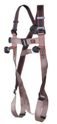 JSP FRONT, REAR ATTACHMENT SAFETY HARNESS Polyester Webbing, Black/Grey