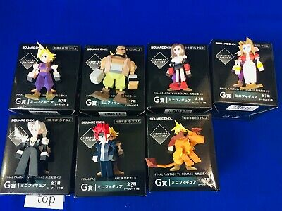 w/Official Boxes FINAL FANTASY VII 7 REMAKE Memorial Kuji G Mini Figure 7pcs set