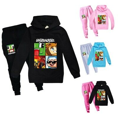 Boys Girls UNSPEAKABLE Hoodies Sweatshirt Tops+Trousers Outfit Sports Tracksuit