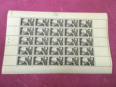 Timbres France feuille N° 543 Quinzaine impériale x 25 1942  N**/MNH SHEET