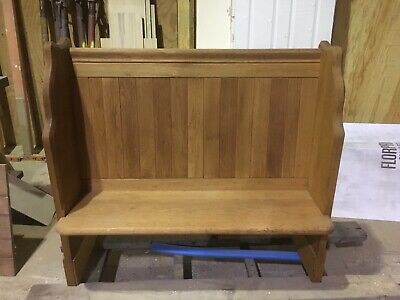2 Seater Solid Oak Church Pew