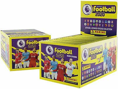 Panini's Football 2020 Premier League Stickers 10, 20, 50, 100 Packs Full Box