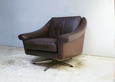 1960's mid century Danish lounge chair with swivel base