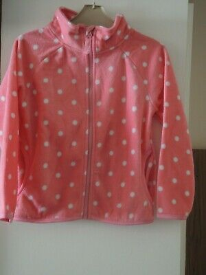 Girls Pink Hoodie Pullover Track Suit Top 6 - 7 Years New