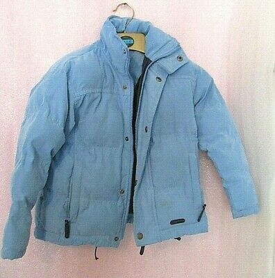 Cuddly Ponies Blue Chunky Winter Puffa Coat Age  3-4 4-5 Years ?
