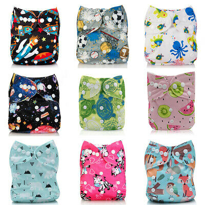 Nappy Washable Baby Pocket Cloth Reusable Diaper BAMBOO CHARCOAL Cover Wrap