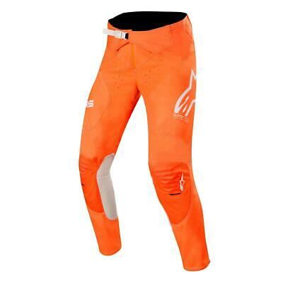 Alpinestars Cross Hose Supertech Orange Fluo/Weiß/Blau