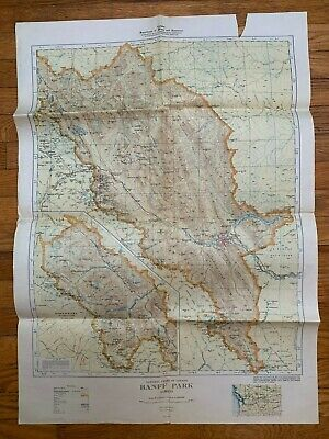 BANFF PARK ALBERTA CANADA TOPOGRAPHICAL MAP National Parks DEPARTMENT OF MINES