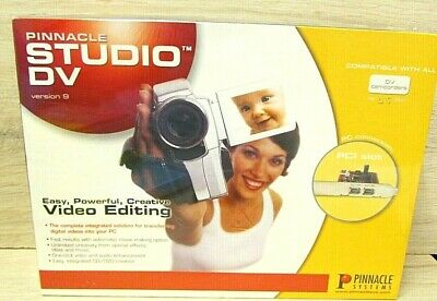 Pinnacle Systems Studio AV/DV 9 Video Editing CD DVD Creation RRP £68.60