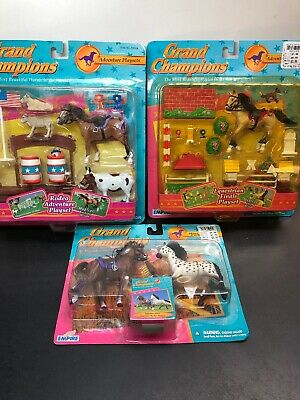 Grand Champions Model Horse Play Set Finals Rodeo Mountain Adventure 3 Set