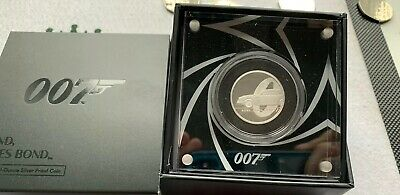 James bond 2020 half ounce 1/2 oz silver proof coin UK royal mint.