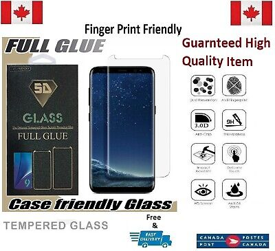 Case Friendly Samsung Galaxy S8 Curved Tempered Glass Screen Protector Full Glue